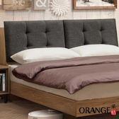 【采桔家居】艾里奇 時尚5尺棉麻布雙人床頭箱(二色可選+不含床底)