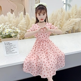 兒童洋裝女童連身裙夏裝2021  大兒童小女孩春秋款網紅洋氣 公主裙子童趣屋