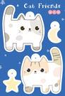 【米力設計】熱縮片鑰匙圈材料包-貓咪好朋...