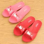 女款 Hello Kitty 愛心凱蒂貓大頭 防滑顆粒 輕量舒適 室內拖鞋 平底拖鞋 59鞋廊