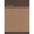 《享亮商城》AO1001-咖1  compact 16K牛皮筆記-咖  美加美