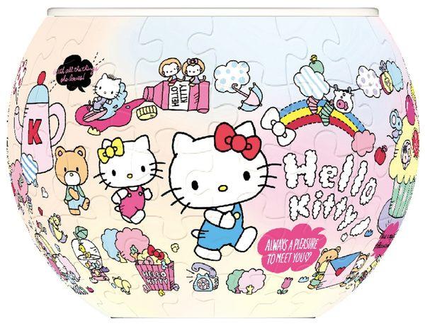 【拼圖總動員 PUZZLE STORY】Hello Kitty! PuzzleStory/三麗鷗/80+4P/立體/花盆拼圖