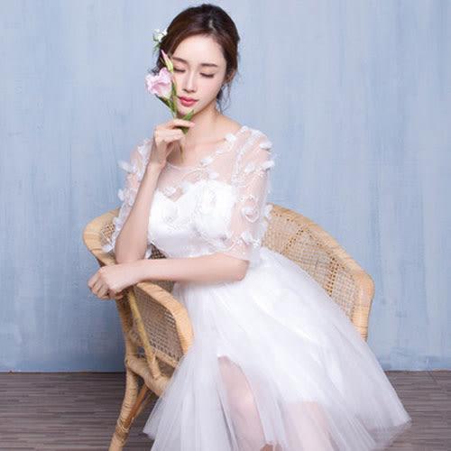 伴娘服  新款 婚禮伴娘團禮服 姐妹裙 短款修身宴會晚禮服 洋裝 【莎芭】
