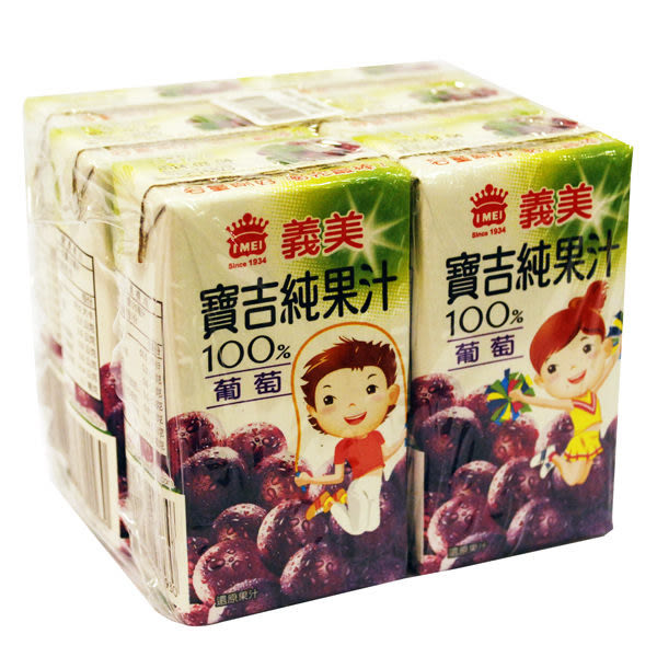義美寶吉純果汁-葡萄125ml x 6入【合迷雅好物超級商城】