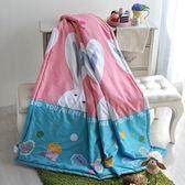 【夏末出清】義大利La Belle x Fancy Belle《大耳兔派對》天使絨涼被(5x6尺)