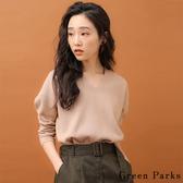 ❖ Autumn ❖ 羅紋V領側開衩針織上衣 - Green Parks