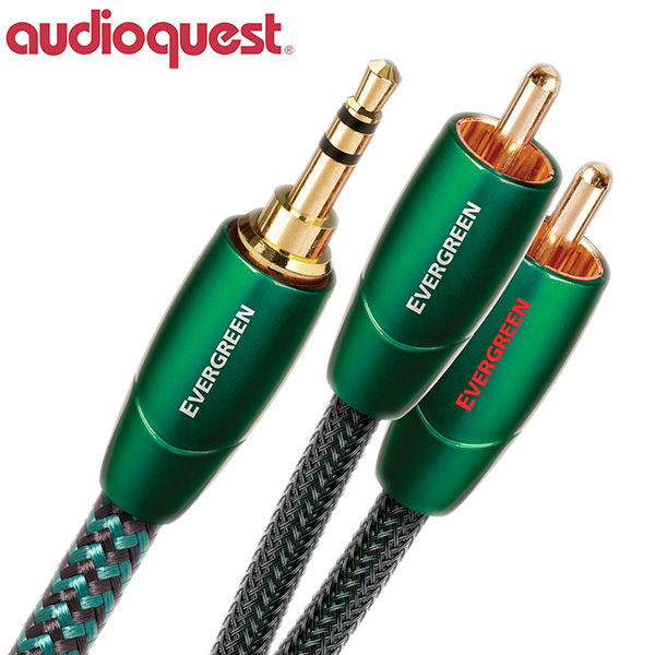 【A Shop】美國 Audioquest Evergreen 訊號線 1.5M (3.5mm-RCA)