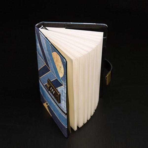 創意密碼本子帶鎖日記本復古筆記本文具簡約記事本個性手帳本