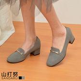 紳士鞋 金飾麂皮粗跟鞋- 山打努SANDARU【1457053#46】
