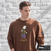【JEEP】北極熊圖騰長袖T恤 (棕)