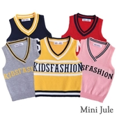 Mini Jule男童 背心 針織V領英文字母背心(共5款) Azio Kids 美國派 童裝