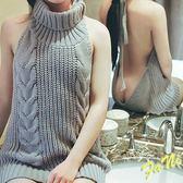 ~方妮FaNi ~ ~噴鼻血太性感超大露背洋裝針織罩衫毛衣~