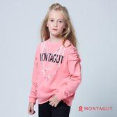 童裝女童長袖T恤 夢特嬌 粉色珠珠圖騰風格 130-140cm