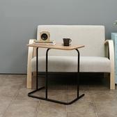 DIY簡約鋼木組合邊桌寫字筆電桌wt013-7-黑