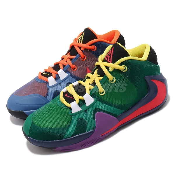 Nike 籃球鞋 Zoom Freak 1 1/2 MULTI EP Multicolor 彩色 女鞋 字母哥 陰陽 【ACS】 CU1486-800