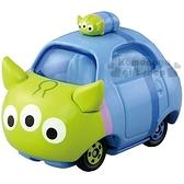 〔小禮堂〕迪士尼 三眼怪 TOMICA合金小汽車《綠.Q版.DMT-03》經典造型值得收藏 4904810-84420
