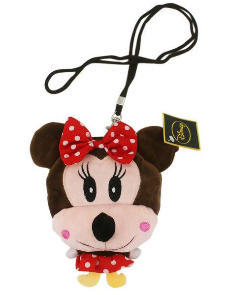 【卡漫城】米妮 票卡包 ㊣版 立體 絨毛 拉鍊 零錢包 Minnie 識別證套 悠遊卡套