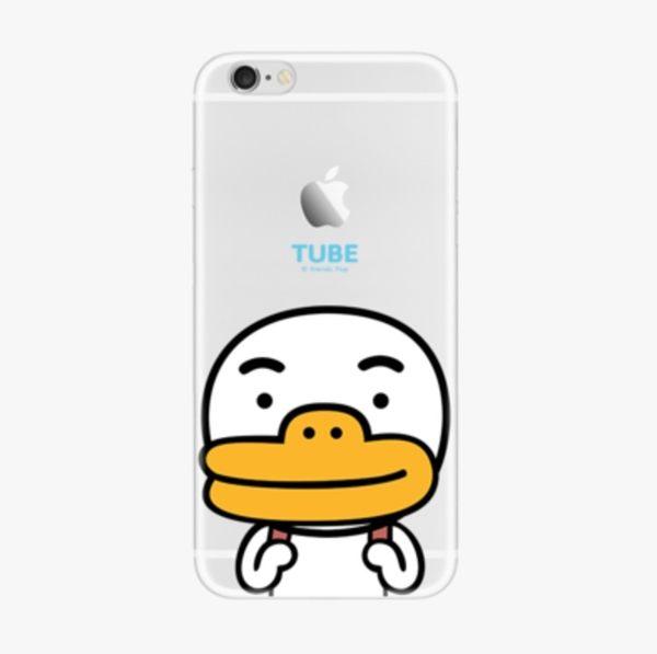 iPhone手機殼 [鐵盒精裝版]。 可掛繩 背包鴨 矽膠軟殼 蘋果iPhone8/iPhone7 6Plus手機殼