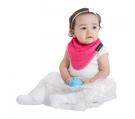 紐西蘭 Mum 2 Mum 機能型神奇三角口水巾圍兜-桃紅 吃飯衣 口水衣 防水衣