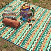 黑鹿野餐墊防潮墊戶外便攜折疊兒童爬行墊游草坪坐墊草地墊防水    名購居家