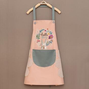 圍裙 時尚家用可愛廚房做飯圍裙女防水防油圍腰男工作服定制印字logo【快速出貨八折優惠】
