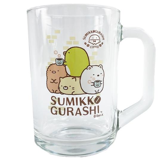 小禮堂 角落生物 玻璃馬克杯 啤酒杯 飲料杯 透明水杯 玻璃杯 441ml (咖啡) 4718733-25706