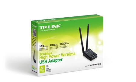 TP-LINK 300M 11n 高功率 高收訊 USB 無線網路卡 ( TL-WN8200ND )