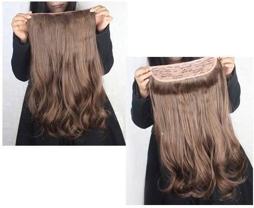 ★草魚妹★H269髮片180g大髮量無痕一片式大波浪捲髮接髮片,售價268元
