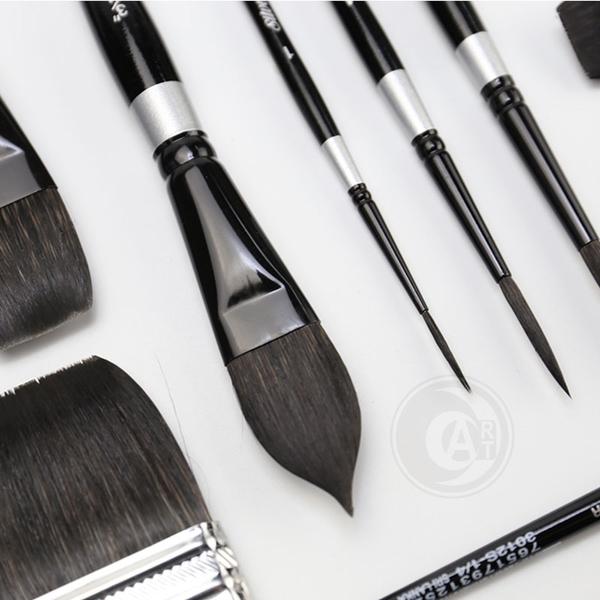 『ART小舖』Silver Brush 美國黑天鵝絲絨Black Velvet松鼠混合毛 榛型畫筆 3009S 1號
