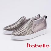 itabella.牛皮編織休閒鞋(9562-80銀灰色)