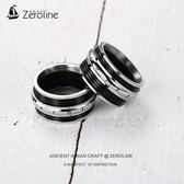 zeroline霸氣時尚男士戒指鈦鋼可轉動食指環個性潮人單身尾戒子女 生日禮物