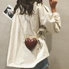 零錢包 夏天小包包女2018新款可愛鏈條零錢包小清新萌迷你愛心單肩斜挎包