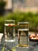 日式手工方形玻璃杯家用透明喝水杯大容量果汁飲料杯牛奶【輕派工作室】