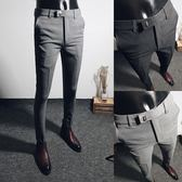 【免運】西褲男士九分西服褲商務休閒小腳百搭西裝褲子男韓版修身9分潮流