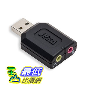 [2美國直購] Syba SD-CM-UAUD USB Stereo Audio Adapter, C-Media Chipset, RoHS USB音源轉接器