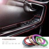 【崁入式裝飾條】5米 汽車用內裝縫隙膠條 中控台車門儀表板喇叭凹槽5M電鍍飾線條