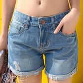 顯瘦捲邊牛仔短褲 O-Ker歐珂兒 LL11298-C