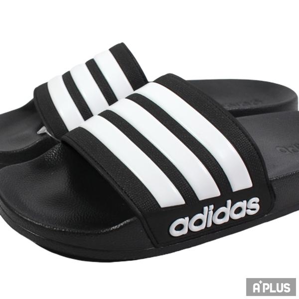 ADIDAS 拖鞋 ADILETTE SHOWER 防水 海灘 黑-AQ1701