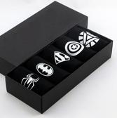 襪子禮盒 禮盒裝襪子男士夏季棉質漫威卡通超人短襪休閒低幫船襪吸汗透氣【快速出貨八折搶購】
