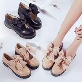 女韓版百搭小皮鞋英倫風娃娃鞋平底