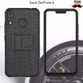 華碩 ZenFone5 ZenFone 5Q 輪胎紋 支架手機殼 防摔 包邊保護 防撞 保護殼 支架 二合一