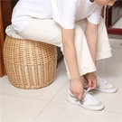 收納凳子 藤編收納凳換鞋凳柳編時尚儲物凳成人可坐家用簡約淳佳牌收納凳子 快速出貨