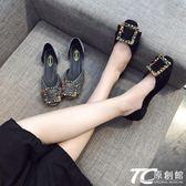 單鞋女2018新款夏韓版女鞋黑色鞋子淺口豆豆鞋時尚瓢鞋百搭平底鞋