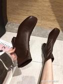 切爾西短靴女新款秋冬馬丁靴百搭網紅女靴子粗跟襪靴高跟踝靴(免運快出)
