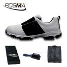 高爾夫男士球鞋 防水 透氣 旋轉鞋帶球鞋 防滑鞋釘 GSH096WBLK
