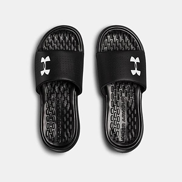 UA 19SS 運動拖鞋 男拖鞋 Playmaker Fixed Strap系列 3000061-001 黑【樂買網】