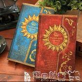 記事本 魔法筆記磁扣本復古歐式日記本精裝筆記本子彩頁插畫筆記本日程本 寶貝計畫