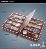 手錶收納盒簡約8位拉鍊手錶首飾收納包PU便攜式旅行手錶收納盒名錶收納包