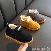 兒童雪地靴 冬季兒童加絨加厚棉鞋男童保暖馬丁靴女童雪地靴寶寶防滑短靴 快速出貨