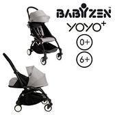法國【BABYZEN】YOYO-Plus手推車+套件-黑腳 (灰色)
